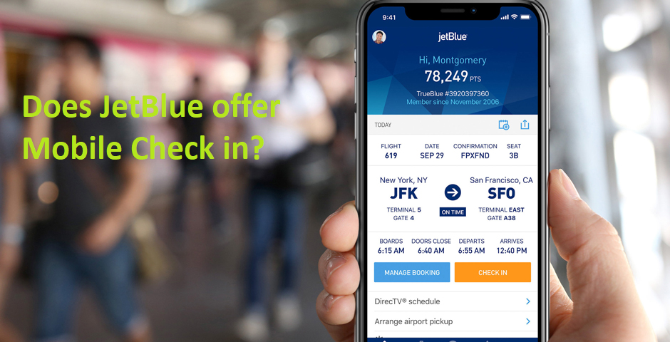 JetBlue Mobile Check in