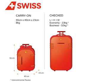Swiss Airlines Baggage policy