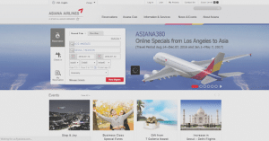Asiana Airlines official website