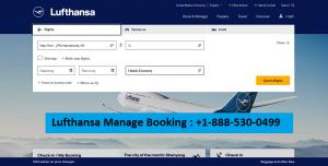 Lufthansa manage my booking