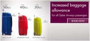 Qatar Airways Baggage Allowance