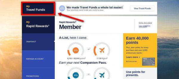 Southwest Travel Funds